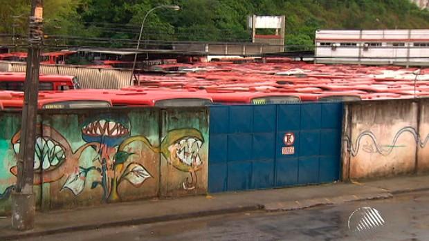 Greve ônibus Bahia (Foto: Reprodução/TV Bahia)