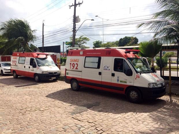 Ambulâncias ficaram sem abastecimento (Foto: Matheus Magalhães/Inter TV Cabugi)