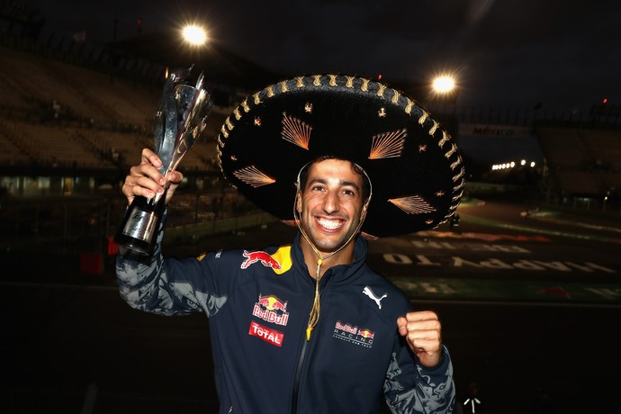 Daniel Ricciardo celebra 3º lugar no GP do México (Foto: Getty Images)