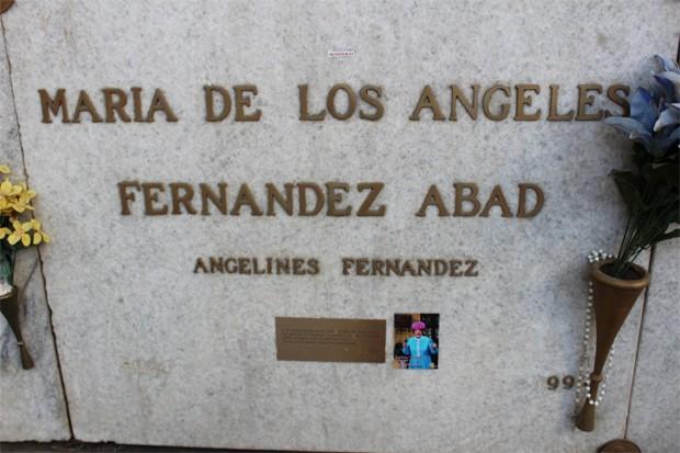 Túmulo da atriz no México DF (Foto: Reprodução)