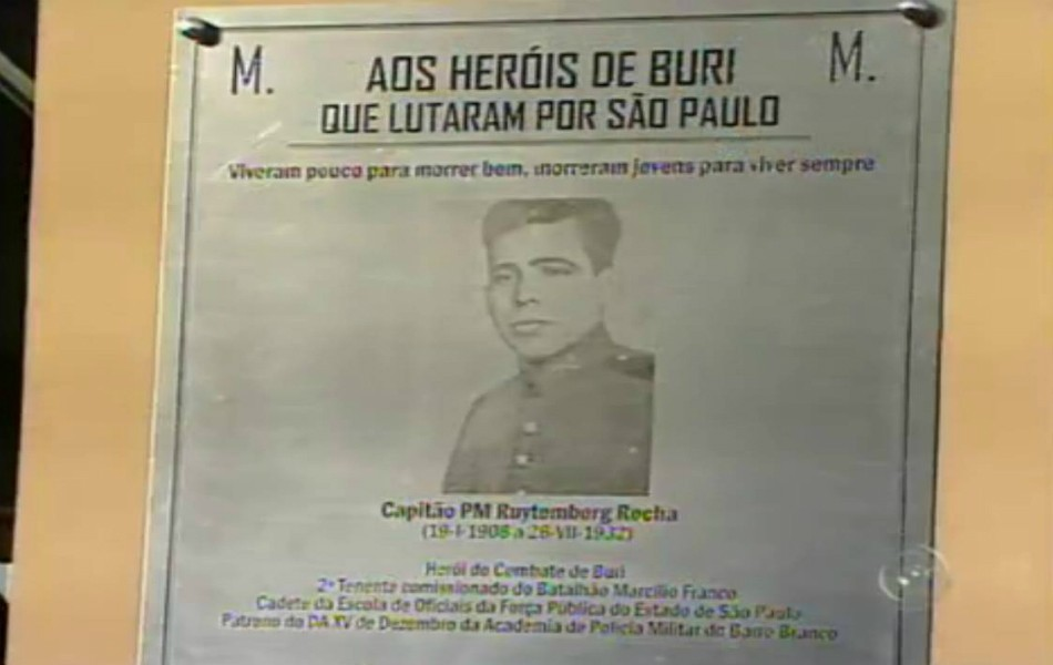 Placa Buri (Foto: Reprodução TV Tem)