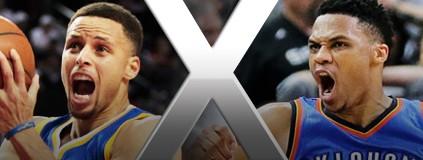 Próxima transmissão no SporTV 3 Warriors x Thunder, quinta-feira, 22h (Getty )