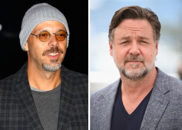 O diretor brasileiro José Padilha e o ator Russell Crowe (Foto: Getty Images)