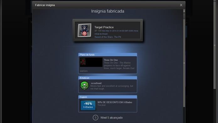 O jogador receberá prêmios e descontos promocionais toda vez que o nível de experiência da conta Steam aumentar (Foto: Reprodução/Daniel Ribeiro)