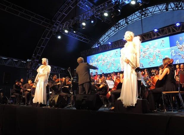 Vozes de Natal 2015 em Rio Preto - TV TEM (Foto: Diogo Marques)