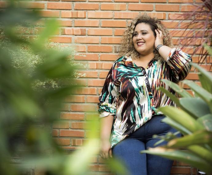 Ana Cigarra mostra seu talento como modelo plus size (Foto: Raphael Dias/Gshow)