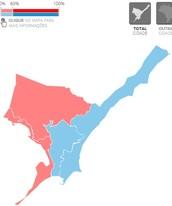 Veja como foi a votação em Maceió (Arte G1)