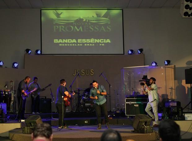 A Banda Essência, de Wenceslau Braz, emocionou os jurados em sua apresentação (Foto: Rafael Veraldo/ RPC)