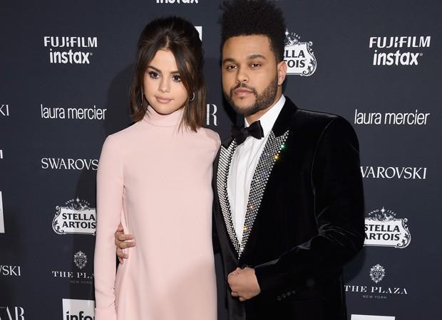 Selena Gomez e o namorado, The Weeknd (Foto: Getty Images)