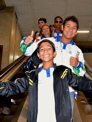 Delegação do Amazonas nas Paralimpíadas Escolares (Foto: Emanuel Mendes Siqueira/Sejel)