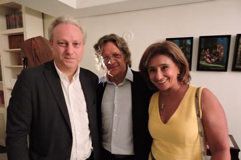 Yves Bigot, Loïc Gosselin e Claudine Bichara (Foto: Julie Godefroy)