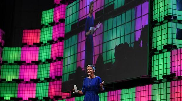 Margrethe Vestager é a comissária da União Europeia no Web Summit (Foto: Divulgação)