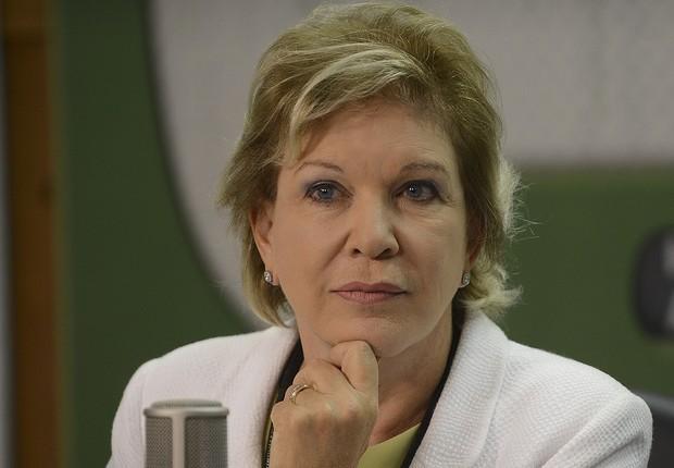 A ministra da Cultura, Marta Suplicy, entregou carta de demissão ao Palácio do Planalto, informou a assessoria da pasta (Foto: Gervásio Baptista/Agência Brasil)