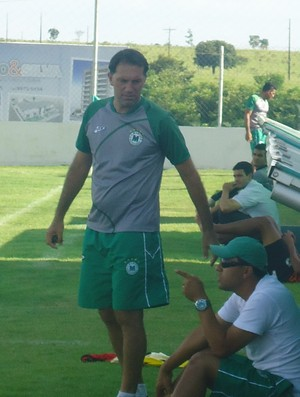Gilban Andrades, preparador de goleiros do Mamoré (Foto: Gullit Pacielle)