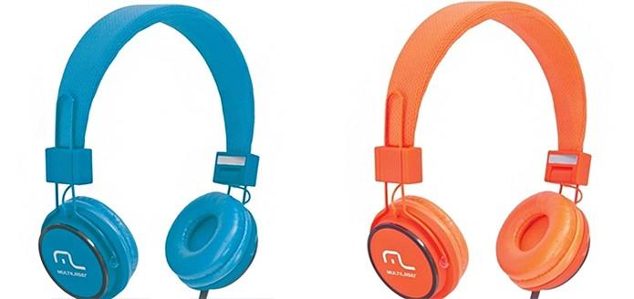 Fone de ouvido colorido da Multilaser (Foto: Divulgação/Multilaser)