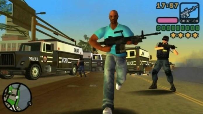 GTA Vice City revisitou a cidade baseada em Miami com uma nova história no portátil (Foto: Reprodução/YouTube)