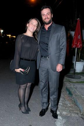 Rodrigo Lombardi e Betty Baumgarten (Foto: Alex Palarea/ AgNews)