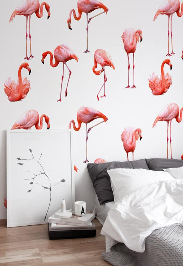 Batalha de tendências: flamingo x unicórnio na decoração (Foto: Reprodução)