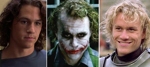 O ator Heath Ledger em alguns de seus papéis mais famosos (Foto: Reprodução)