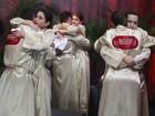 Marquezine, Carol Castro e Abravanel fazem oração e choram antes da final
