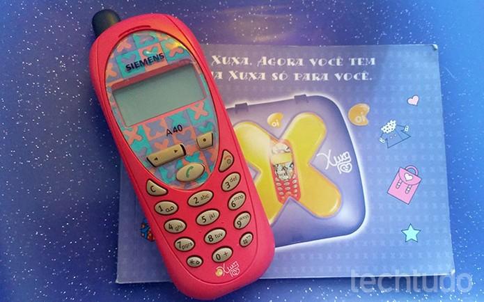 Celular da Xuxa era muito popular nos anos 2000 (Foto: Barbara Mannara/TechTudo)