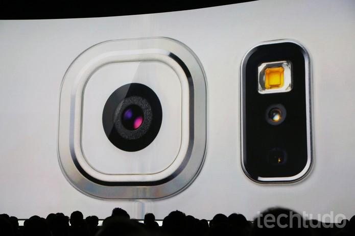 Os novos S6 e S6 Edge da Samsung gravam 30 fps (Foto: Fabrício Vitorino/TechTudo)