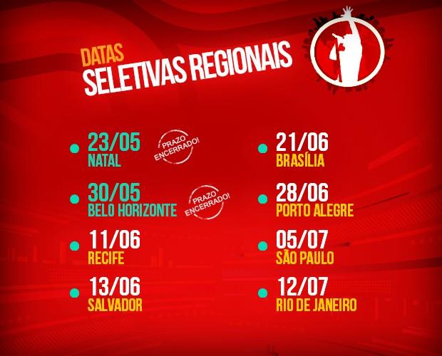 Fique de olho no calendário das Seletivas Regionais! (Foto: The Voice Brasil/TV Globo)