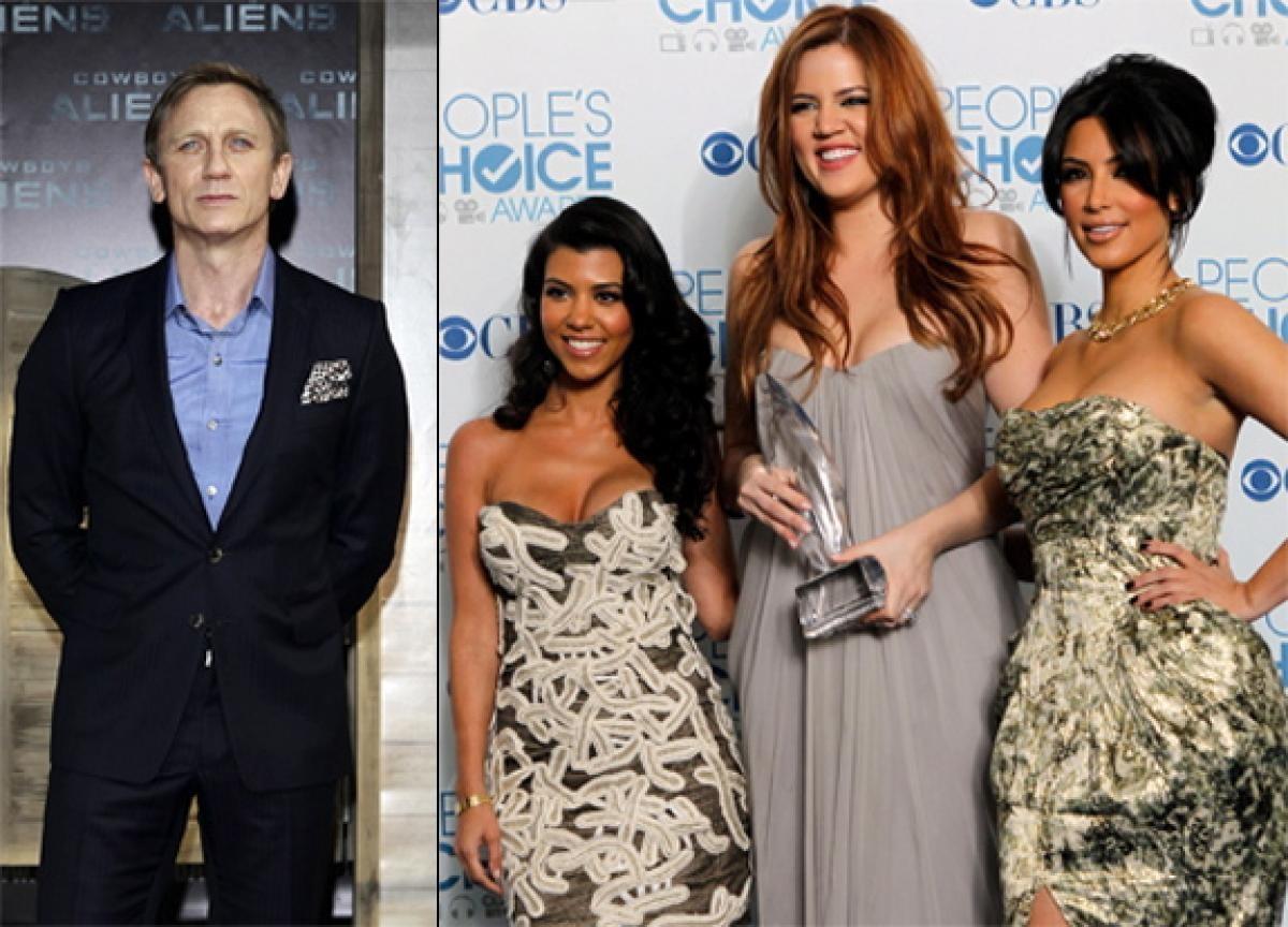 Daniel Craig vs Família Kardashian (Foto: Divulgação)
