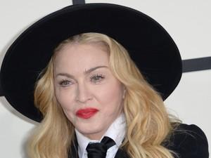 Cantora Madonna chega à premiação do Grammy  (Foto: Jason Merritt/Getty Images/AFP)