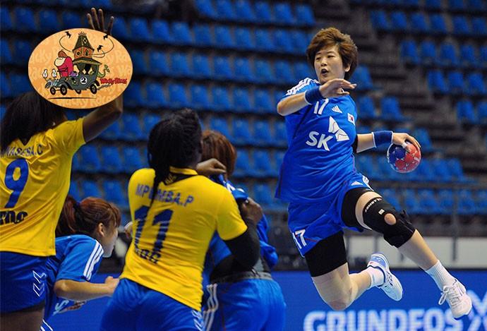 Raio-X handebol feminino Coreia  (Foto: Editoria de Arte)