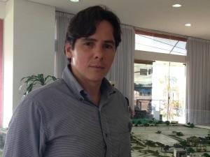 Guilherme Diamante, diretor de vendas de empresa imobiliária (Foto: Vanessa Vasconcelos/G1)