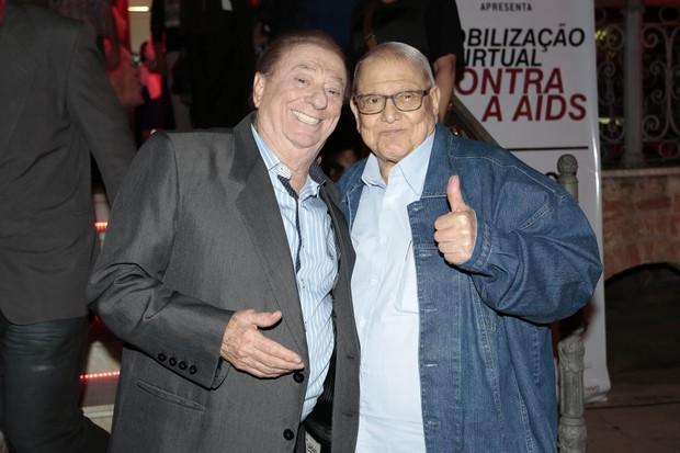 Ary toledo e Raul Gil (Foto: Rafael Cusato/EGO)