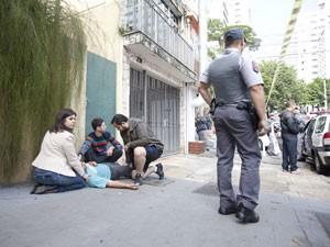 Homem foi ferido por bala perdida na região da Avenida Paulista (Foto: Felix Lima/Folhapress)