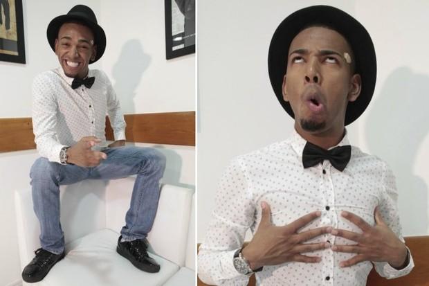 Nego do Borel em entrevista exclusiva ao EGO no Rio (Foto: Isac Luz/EGO e Celso Tavares/EGO)