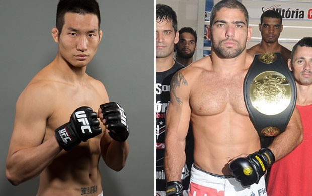 Hyun Gyu Lim x Marcelo Guimarães MMA (Foto: Montagem sobre foto da Getty Images)