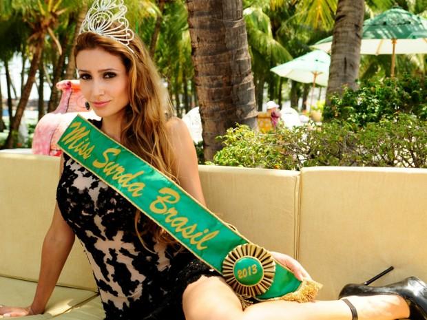 A paranaense Thaisy Payo foi eleita Miss Surda brasil em segunda edição do evento. (Foto: Miss Surda Brasil/Divulgação)