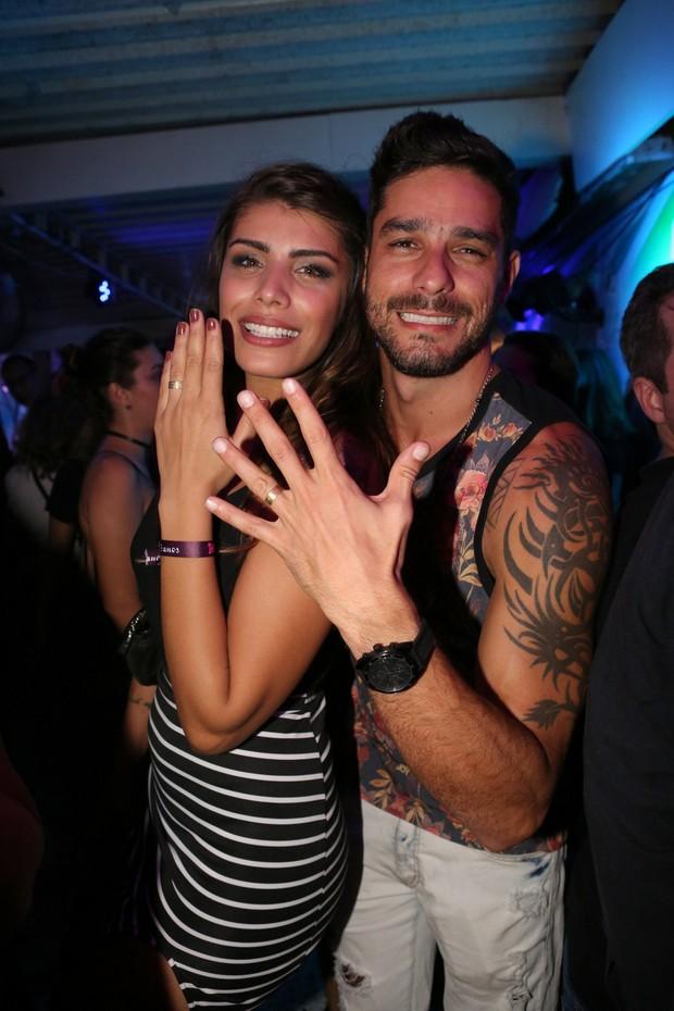 Franciele Almeida e o marido, Diego Grossi (Foto: Reginaldo Teixeira/CS Eventos Divulgação)