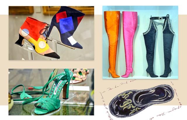 Sapatos da expo de Manolo Blahnik (Foto: Arte Vogue Onliner)