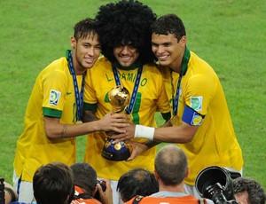 neymar thiago silva daniel alves brasil copa das confederações (Foto: Alexandre Durão / Globoesporte.com)