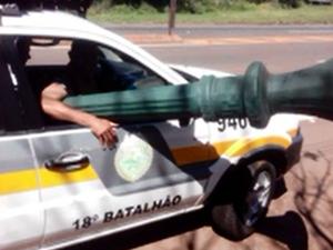 Homem disse que usaria dinheiro da venda para viajar (Foto: Divulgação/PM)