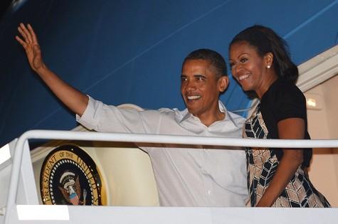 Barack Obama e a primeira-dama Michelle Obama (Foto: Mandel Ngan/AFP)