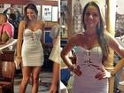 Corpão! Bruna Marquezine arrasa em gravação com vestidinho colado branco