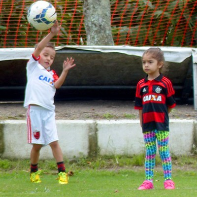 treino flamengo - filhos everton (Foto: Cahê Mota)