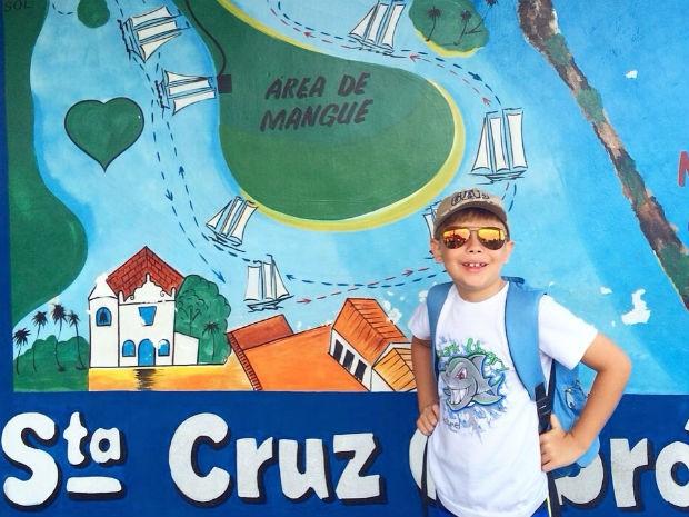 Para não esquecer detalhe algum da viagem, Caíque conta com a ajuda dos pais (Foto: Arquivo pessoal)