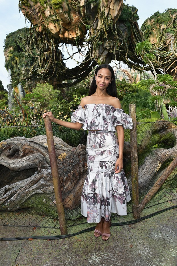 ORLANDO, FL - MAY 24:  Zoe Saldana attends the Pandora The World Of Avatar Dedication  at the Disney Animal Kingdom on May 24, 2017 in Orlando, Florida.  (Photo by Gustavo Caballero/Getty Images) (Foto: Getty Images)