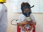 Crianças com câncer visitam quartel do Corpo de Bombeiros em Cuiabá
