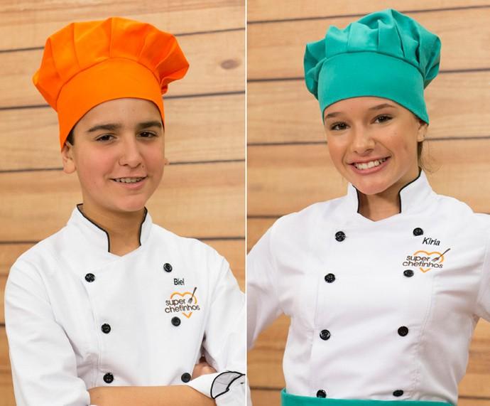 Biel e Kiria estão na final do 'Super Chefinhos' (Foto: Globo/Renato Rocha Miranda)
