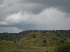 Tempo na área rural de Vilhena, RO (Foto: Jonatas Boni/ G1)
