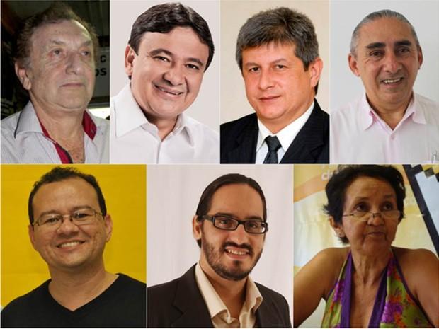 Agenda de candidatos para governador do Piauí (Foto: G1 Piauí)