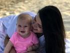 Thais Fersoza se declara a Melinda durante férias: 'Amor da minha vida'
